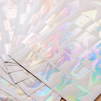 Meri Meri Holographic Alphabet Stickers Set - Urban Outfitters