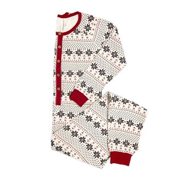 Hand Drawn Snowflakes Organic Adult Womens Holiday One Piece Jumpsuit