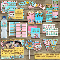 Sheriff Callie's Wild West  - Birthday Printable Pack - Disney - High Quality 300 DPI- Customized -Party Printables - In Two Colors