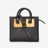 Sophie Hulme Box Tote in Black
