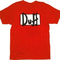 Simpsons Duff Beer Red T-shirt - The Simpsons - | TV Store Online
