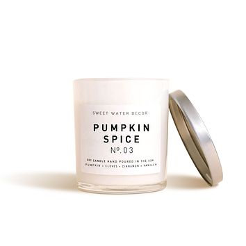 Pumpkin Spice Soy Candle | White Jar Candle