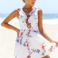 Spread Your Wings Dress White