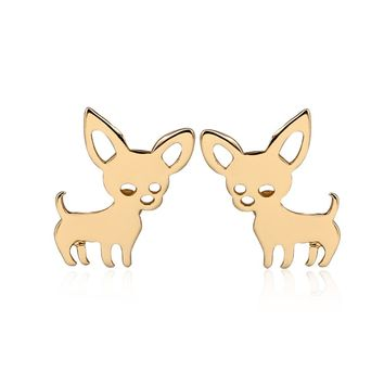 Shuangshuo New Arrival Chihuahua Earrings for Women Cute Dog Studs Jewelry Love My Pet Jewelry Animal Earrings Party Gift Kids