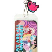 Disney Alice In Wonderland All Mad Lanyard