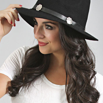 heavy metal bend fedora - black