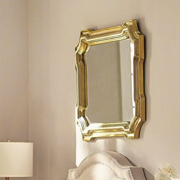 Gold Accent Rectangular Mirror