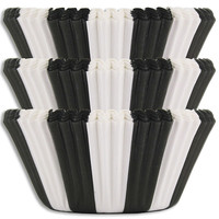 Black Circus Stripe Baking Cups
