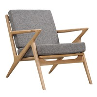 Jet Accent Chair GREY - NATURAL
