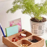 Square Cork Desk Organizer