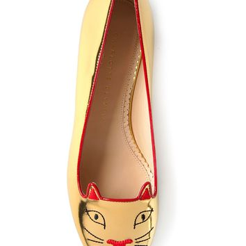Charlotte Olympia 'Lucky Kitty' loafers