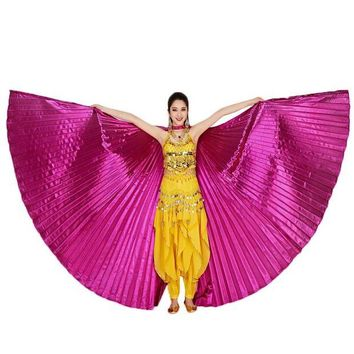 VONFC9 High Quality Dancing Dress 2017 Egypt Belly Wings Dancing Costume Belly Dance accessories No Sticks
