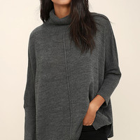 Chance of Cozy Dark Grey Sweater