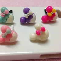 5pc Mouse Headphone Jack Dustproof Iphone Plug Ear Dust Cap for Iphone 4, Iphone 4s, Iphone 5