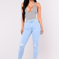 Do My Dance High Waist Jeans - Light