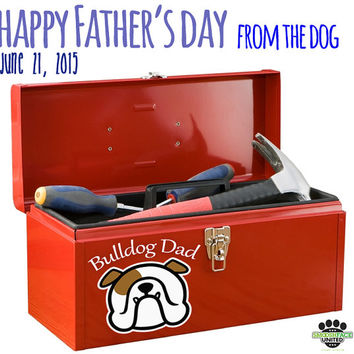 English bulldog vinyl decal car sticker - 'BULLDOG DAD' - Perfect Father's Day gift!  #bullylove