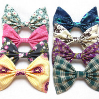 Choose Four Large Hair Bows from the Fall Set for $20 - Also sold Individually