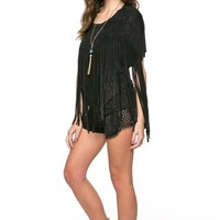 Distressed fringe top from Ritzy Gypsy Boutique