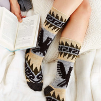 Eagle Patterned Thick Boot Sock - Urban Outfitters