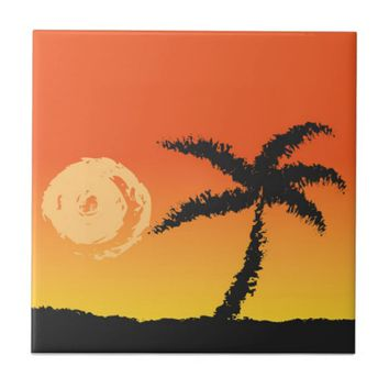 Island Sunset Tile