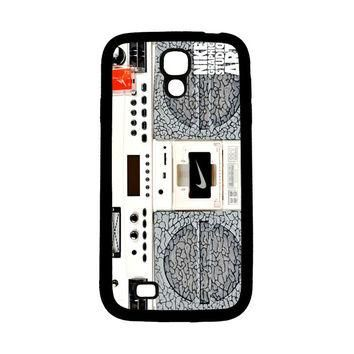 Nike Air Jordan Radio Boombox Samsung Galaxy S4 Case