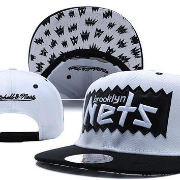 qiyif Brooklyn Nets Bat 9FIFTY Snapback Cap M&N