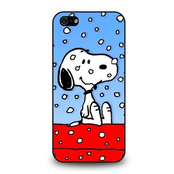 snoopy dog christmas iphone 5 5s se case cover  number 2
