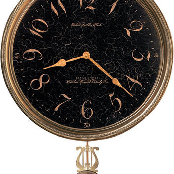 0-005391>Paris Night Wall Clock Antique Brass