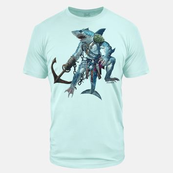 Shark Soldier Ice Blue Tri Blend T-Shirt