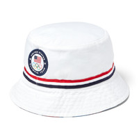 9cbf7d192f0 Men s Polo Ralph Lauren White Team USA 2016 Olympics Bucket Hat
