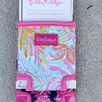 Lilly Pulitzer Koozie Set - Flamenco + Scuba To Cuba