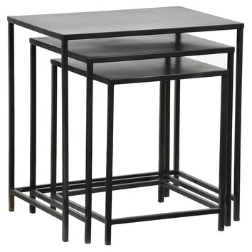 Pomona Large Nesting Tables, Set of 3, Nesting Tables