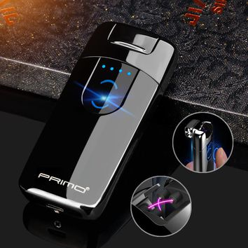Suspend Ignition Arc Lighter Electronic USB Recharge  Cigarette Smoking Electric gift Lighter for friend birthday wedding gift