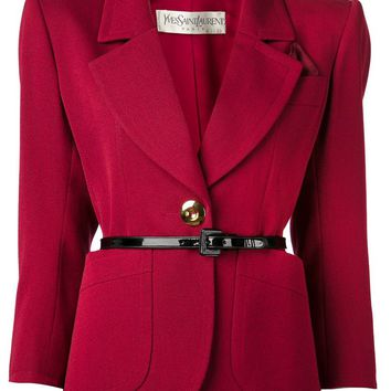Yves Saint Laurent Vintage one button blazer