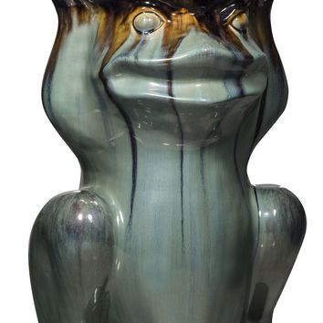 Ceramic Frog Indoor/Outdoor Stool, Plant Stand, Table