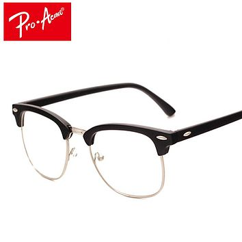 Pro Acme Fashion Glasses Frame with Clear Lenses Man Johnny Depp Nerd Optical Women Computer Eye Glasses Frames for Men CC0554