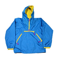 Vintage 90s Sierra Designs Blue/Yellow Anorak Jacket Mens Size Small