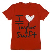 Red I Heart Taylor Swift Tee