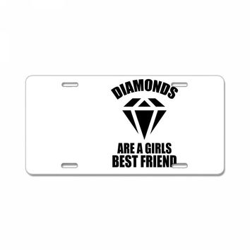 Diamonds Are A Girls Best Friend License Plate