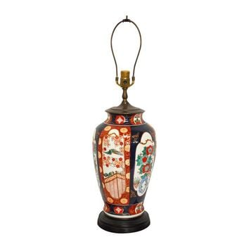 Pre-owned Large Imari Porcelain Ginger Jar Table Lamp