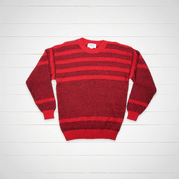 90s Vintage Sweater / Mens Striped Sweater / Hipster Urban Outfitters Style