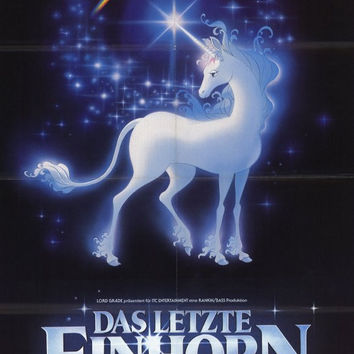 Last Unicorn (Foreign) 11x17 Movie Poster (1982)