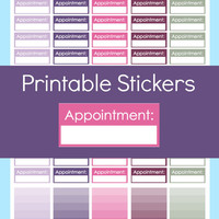 Appointment Stickers, Appointment Planner Stickers, Doctor Appointment Stickers, Planner Stickers Printable, Erin Condren Planner Stickers