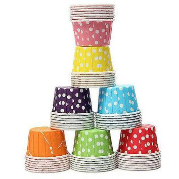 100pcs/lot colorful Cute Wedding, Birthday, Baby shower Party Cake Decorating Muffin Cupcake Cases Tools Mini Paper Baking Cups