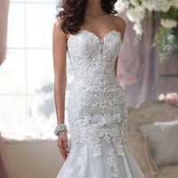 Lace Mermaid Gown by David Tutera for Mon Cheri