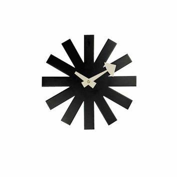Inspired By George Nelson Asterisk Clock - Black