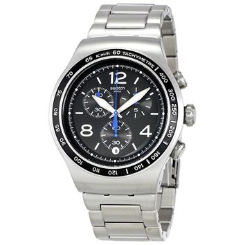 Swatch The Magnificient Black Dial Mens Chronograph Watch YOS456G