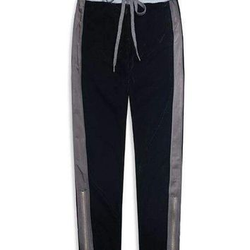 Mens Double Knitted Waist Track Pants