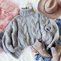 Spool Lux Storm + Cable Sweater