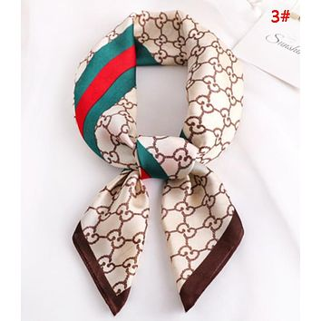 GUCCI New Fashion More Letter Print scarf small scarf women 3#